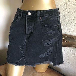 AE mini distressed Denim Skirt